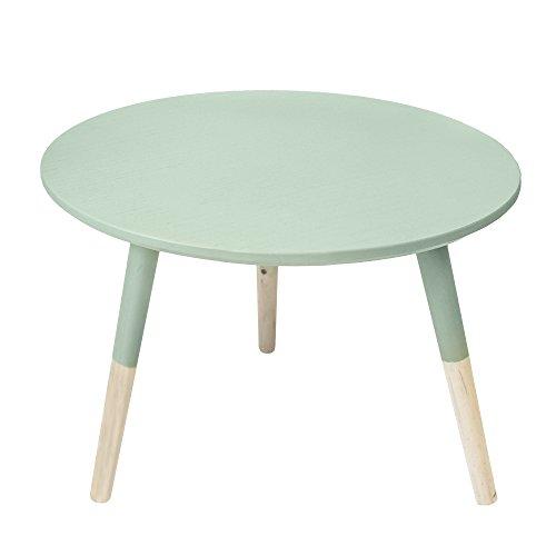 Suarez Table d'appoint, Bois, Vert d'eau, 50 x 50 x 35 cm