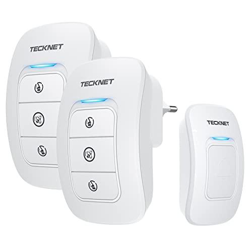 TeckNet Sonnette sans fil, Blanc, 843816