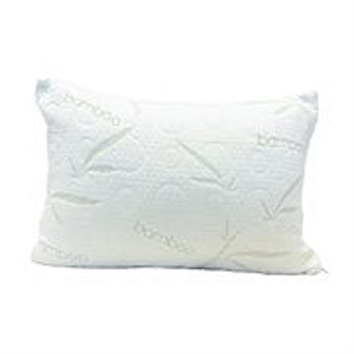 My Perfect Dreams Adjustable Bamboo Aloe Vera Shredded Memory Foam Pillow - Sleep Better Than Ever - Micro-Vented Bamboo Cover - Hypoallergenic and Dust Mite Resistant (Standard)