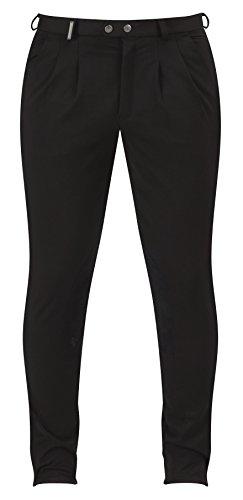 Caldene Competition, Pantaloni da Equitazione Uomo, Nero (Black), 36'