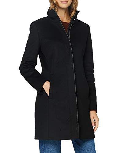 HUGO Damen Malura Wollmischungs-Mantel, Black1, 42