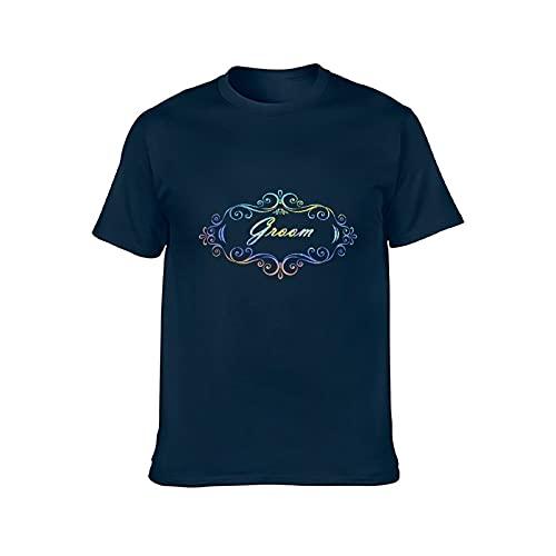 Eamibay Novio Hombres y Mujeres Cuello Redondo Camiseta De Algodón M