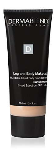 Dermablend Leg and Body Makeup, with SPF 25. Skin Perfecting Body Foundation for Flawless Legs with a Smooth, Even Tone Finish, 3.4 Fl oz