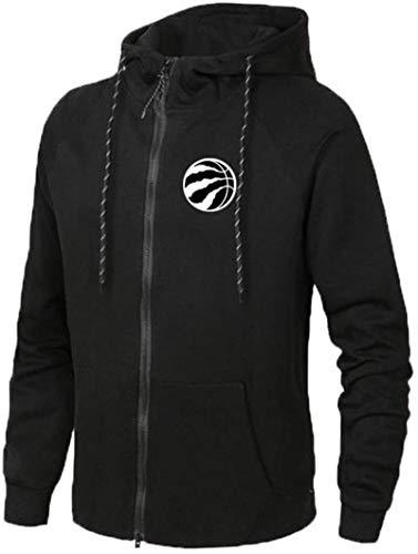 Funnyy Sudadera Unisex, Chaqueta de Deportes de los Hombres - Baloncesto Aficionado Toronto Raptors de la Camiseta de Formación Trueno Capucha suéter Manga Larga Cardigan Negro-L
