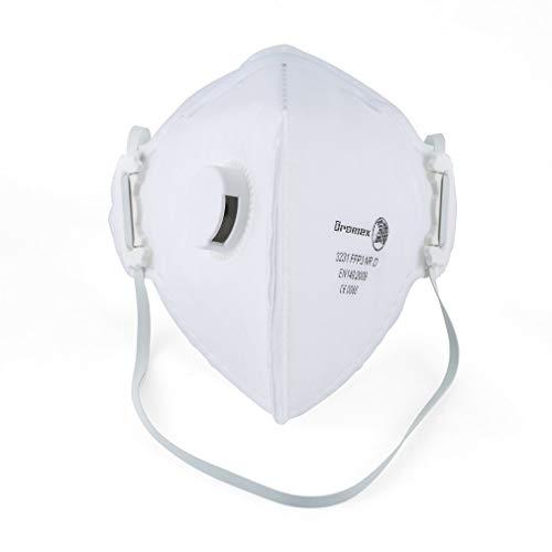 Dromex N95 Masque Anti-Virus et PM2,5, Masque FFP3 avec Valve respiratoire Confortable, Filtre...