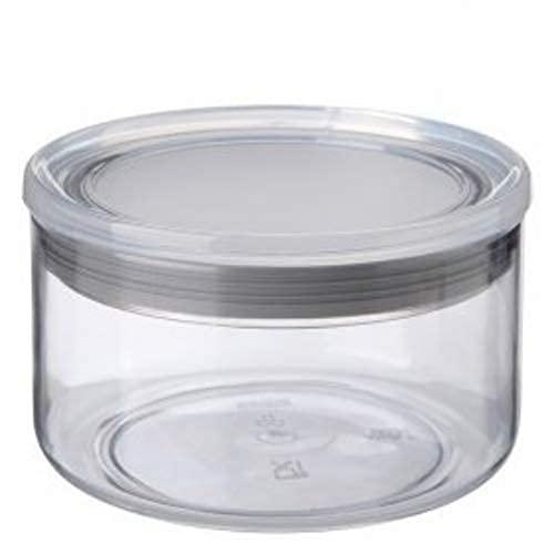 Tatay 1125001 - Contenitore alimentare rotondo in plastica, 12,5 x 12,5 x 8 cm, 0,5 l, Plastica, trasparente/grigio, 12,5 x 12,5 x 8 cm