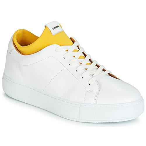 SHABBIES SHS0174 SNEAKER SMOOTH LEATHER Sneakers dames Wit/Geel Lage sneakers