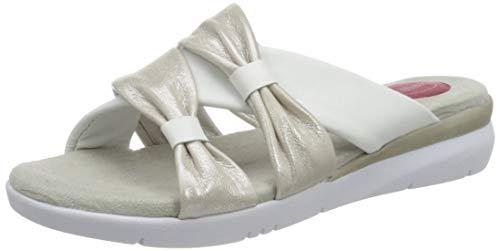Jana 100% comfort 8-8-27109-24, Mules Femme, Blanc (White/Silver 191), 38 EU