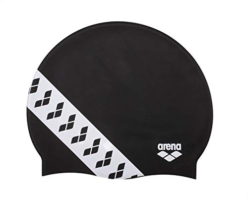 Arena Team Stripe cap, Cuffia da Gara con Bande Unisex Adulto, Nero (Black), Taglia Unica
