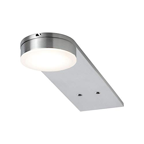 Paulmann 93567 LED Möbelleuchte Setup rund incl. 3x3,2 Watt Schrankleuchte Eisen gebürstet Schranklicht Metall, Acryl Küchenlampe 2700 K