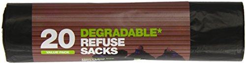 Preisvergleich Produktbild D2W Black Refuse Sacks 20 Pieces,  5er Pack(5 x 1 g)