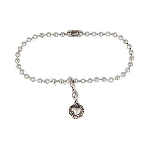 Armband van roestvrij staal met hanger ARGENTO925 hart Sacro