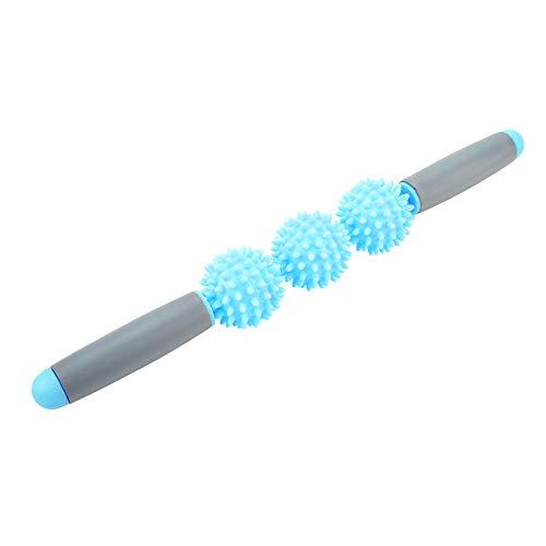 DaMohony Yoga-Stab, Muskelroller, Cellulite-Stachelball für Rücken, Arme, Schulter, Beine, 1430235/120814UKOBV, blau