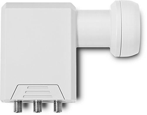 TechniSat SCR LNB - Einkabel-LNB (mit 2 Legacy-Ausgängen, Mehrteilnehmer-Versorgung über ein Koax-Kabel, ideal für Multituner-Geräte) weiß