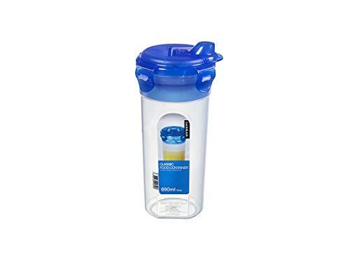 LocknLock PP Classic Shaker für Sauce, Öl und Salatdressing, 690 ml, Ø 101 x 205 mm, 100 {6f112808ebc2855d3528f5e0cfc1f3febf0fc696c5336f27b41354fa3d4d6df8} luft- und wasserdicht, Cleveres Verschluss-System, Mixer, Schüttelbecher für Dressing