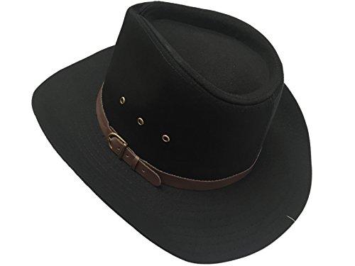 HDUK Summer Hats - Chapeau western - Homme Noir Noir