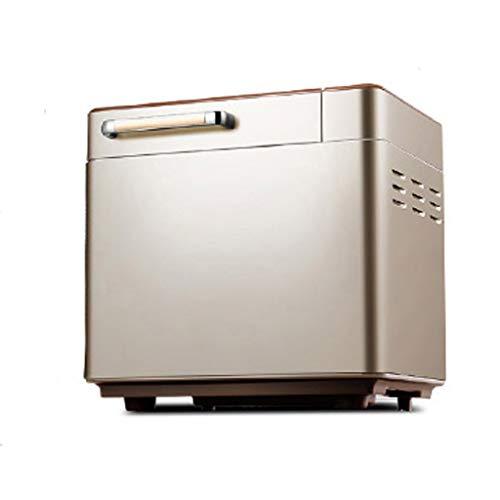 WZHZJ. Automatische Brotmaschine, Edelstahl-Brotbackautomat, Obst-Nuss-Spender & Keramik-Pfanne, Smart Touch Button