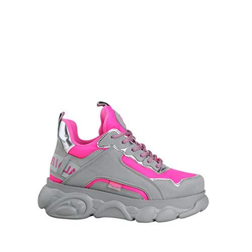 Buffalo CLD Chai Sneaker Schuhe Platform Plateau Pink Grau (40 EU, Pink)