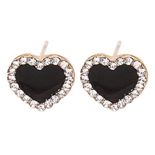 Kongqiabona-UK Pendientes de botón de Forma geométrica con Incrustaciones de Diamantes Pendientes de botón de Puntos pequeños de Formas variadas para Mujeres y niñas