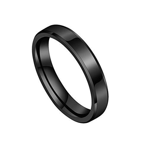 ERDING Fashion Gift 6mm RVS Ring Voor Vrouwen Mannen Mode Goud Kleur Vinger Ringen Bruiloft Band Sieraden Gift