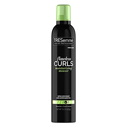 TRESemmé Flawless Curls Moisturizing Extra Hold Flawless Curls Styling Mousse 15 oz, White (Pack of 1), 624785