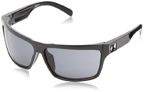 Spy Optic Cutter Black-Grey (+yellow) Wrap Sunglasses, 65mm