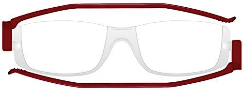 老眼鏡 コンパクトグラス2 nannini リーディンググラス 男性用 女性用 メンズ レディース シニアグラス 全12色(+1.00,レッド)