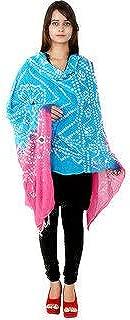 Indian Woman Cotton Bandhnai Tie and dye scarf/purple scarf/multicolored scarf/pom pom scarf/cotton scarf/fashion scarf/gift scarf/gift ideas.