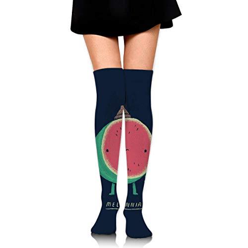 iuitt7rtree Thigh High Socks Melonnial Watermelon Knee High Long Socks Boot High Socks For Women