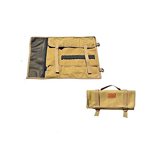 Tumecos ハンマー ペグ ケース ペグ収納袋 アウトドア ペグ収納ケース ペグケース ペグバッグ ハンマーバッグ キャンプ ペグ収納バッグ ツールバッグ テントペグネイルズアクセサリー 収納袋 ベージュ-L