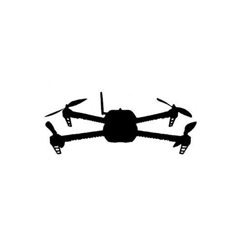 A/X Adesivo per Auto 12.2 CM * 5.2 CM Decalcomania del Vinile Autoadesivo dell'automobile Quadcopter UAV Drone 3D Robotics Nero/Argento C3-0167Nero