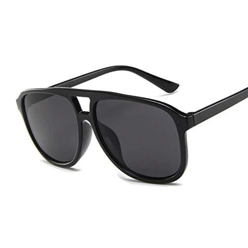 Sunwd Gafas de Sol para Hombre y Mujer, Summer Pilot Sunglasses Women Designer Transparent Shades Sun Glasses Female Cool Color UV400 Oculos De Sol Gafas BlackGray