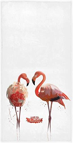 Toallas de Mano de Flamenco Rosa Toalla de baño de Animales Toalla de baño pequeña Ultra Suave Altamente Absorbente Plato de Cocina Toalla de Invitados Decoraciones de baño para el hoga70×140cm