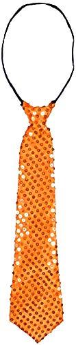 Pailletten stropdas - feest - kostuum - vermomming - carnaval - halloween - accessoires - clown - oranje - origineel cadeau idee clown cosplay
