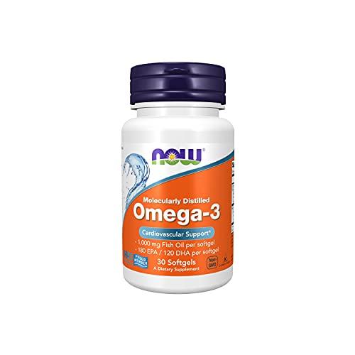 NOW Omega 3 Olio Distillato Molecolare 30 Softgels - 60 g