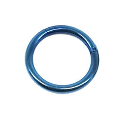 Hkldm Anillo de Oro de los septos Abierto Pequeño Separador Pendiente Hombres Mujeres Que perforan la joyería del oído-Nariz Cadena Corporal (Color : Blue, Size : 1.2 8mm)
