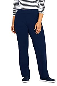 Lands' End Women s Starfish Pants Deep Sea Navy Petite Large