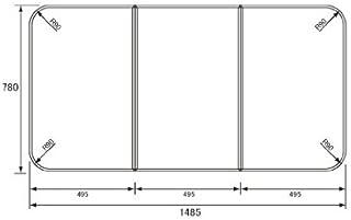 Panasonic 断熱風呂フタ ストレート16用 四角型 3枚組