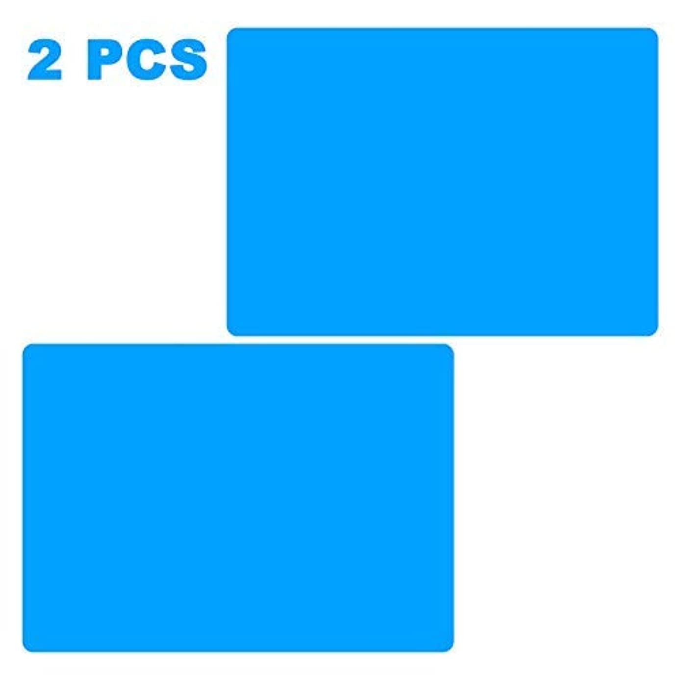 AQUEENLY 2 PCS A4 Silicone Sheet for Crafts Jewelry Casting Molds Mat, Food Grade, Blue