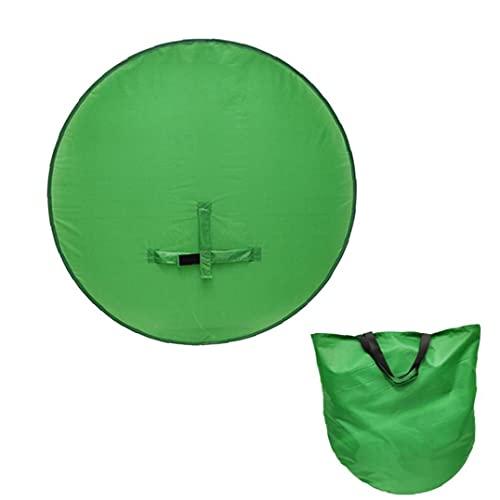Green Screen fondali portatile Sfondo Webcam con gancio per la cinghia Sedia per Pop-Up pieghevole Fotografia 142 centimetri, usato per le riprese video ritratto in studio