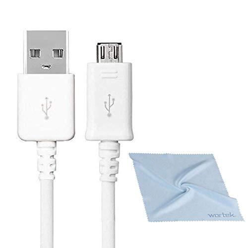 Original Samsung Micro USB Kabel High Speed Ladekabel Schnellladekabel Aufladekabel für Android Smartphone Handy ECB-DU4EWE 1,5m Weiß (S3 Kabel in Bulk Verpackung) + wortek Displayputztuch