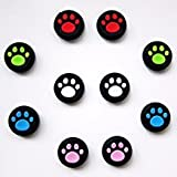 Vivi Audio Thumb Stick Grips Cap Cover Joystick Thumbsticks Caps For PS4 XBOX ONE XBOX 360 PS3 PS2 White Cat Dog Paw 10pcs