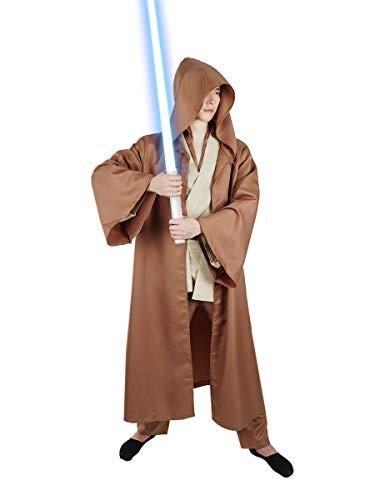 CoolChange Disfraz de Jedi de Luke Skywalker con Capa | Marron | Talla: XL