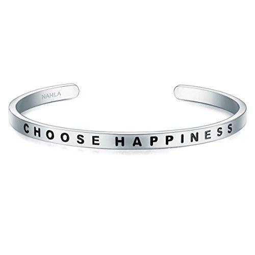 Bangle Edelstahl CHOOSE HAPPINESS