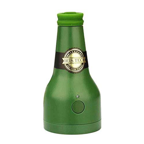 Bier Blase Werkzeug Beer Foam,12shage Batteriebetriebener Bieraufschäumer Outdoor Zubehör Flaschenöffner 2 Stück
