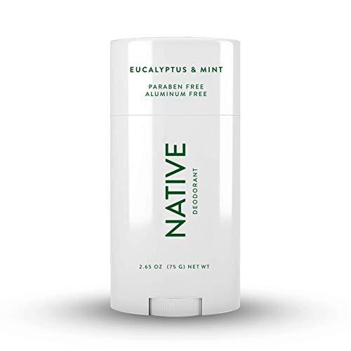 Native Deodorant - Natural Deodorant for Men - Vegan, Gluten Free, Cruelty Free - Contains Probiotics - Aluminum Free & Paraben Free, Naturally Derived Ingredients - Eucalyptus & Mint