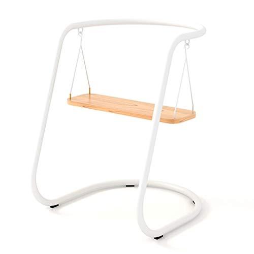 Chair WRJ@ Schaukelstuhl Schaukelsessel Schwingsessel gepolstert Relax Sessel Gestell Metall Holz