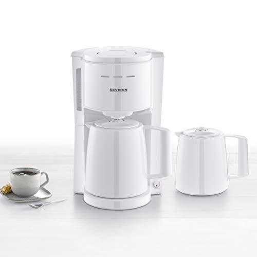 SEVERIN KA 9256 Filterkaffeemaschine mit 2 Thermokannen, ca. 1.000 W, bis 8 Tassen, Schwenkfilter 1 x 4 mit Tropfverschluss, automatische Abschaltung, Durchbrühdeckel