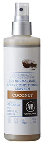 Urtekram Kokos Leave-In Spray Conditioner Bio, normales Haar, 250 ml