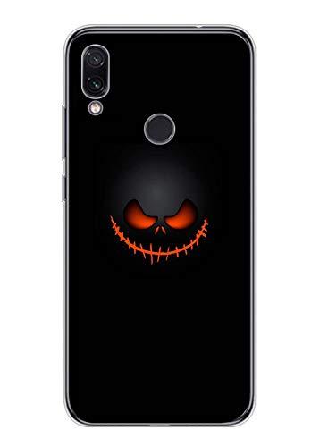 Oihxse Compatible con Xiaomi Mi 9T/9T Pro Funda Silicona Transparente Suave Gel TPU Carcasa Ultra-Delgado Patrón Protector Caso para Redmi Mi 9T/9T Pro Cover Bumper (Diablo)